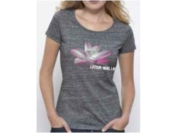 T-shirt femme Latour-Marliac - Gris chiné