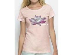T-shirt femme Latour-Marliac - Rose chiné