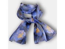 Echarpe Nympheas bleus