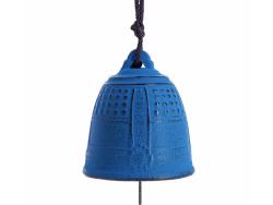 Cloche Feng Shui Furin Iwachu Bleue 5,5 cm
