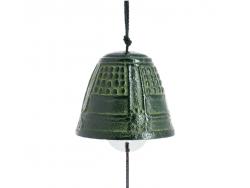 Cloche Feng Shui Furin Iwachu Verte Brilliante 4,5 cm