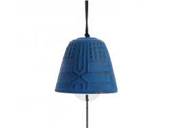 Cloche Feng Shui Furin Iwachu Bleue Royale 4,5 cm
