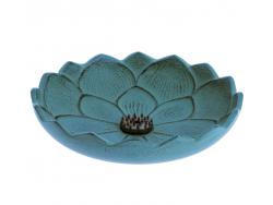 Brûle-parfums Iwachu Fleur de Lotus, Turquoise