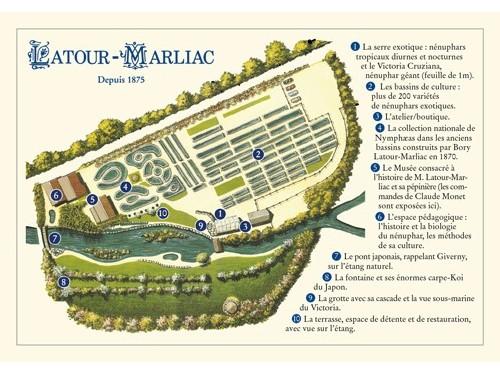 Carte postale 'Plan du jardin'