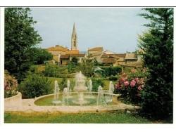 """Post Card """"Le Temple sur Lot view"""""""