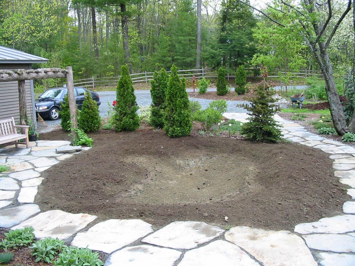 mélange de terre et le compost